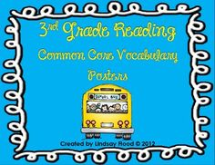 3rd Grade Reading Common Core Vocabulary Posters