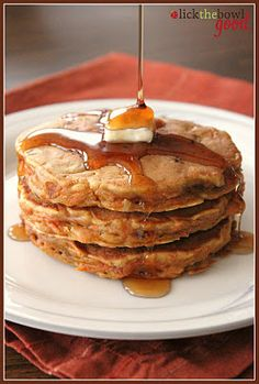 Such an incredibly yummy idea! Carrot Cake Pancakes. #food #carrot #cake #pancakes #breakfast #brunch