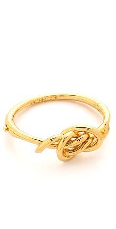 gold knot bangle bracelet