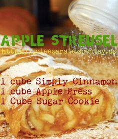 Scentsy recipe. Apple Streusel. #scentsy #scentsycafe #simplyscentsy https://chelseygray.scentsy.us/Scentsy/