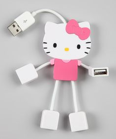 Take a look at this Pink Hello Kitty 4-Port Kitty USB Hub by Hello Kitty on #zulily today!