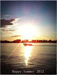Sunset over Wixom Lake, Michigan, Summer 2012