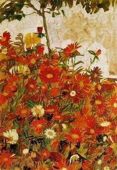 Field of Flowers, Egon Schiele