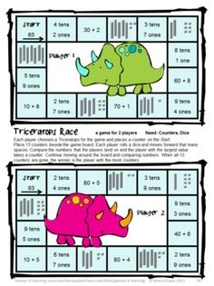 Place Value Games for 2 Digit Numbers by Games 4 Learning - This is a set of 15 printable Place Value Games for 2 Digit Numbers. $