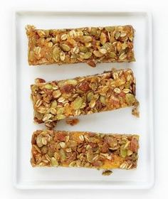 Granola Bars with Apricots, Oats and Almonds: At a time of year when sugar consumption is at an all-time high, this healthier recipe is a welcome treat that can be served morning, noon, or night.