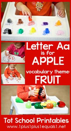 Tot School Printables Letter A is for Apple ~ a free program for toddlers from @{1plus1plus1} Carisa #totschool