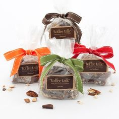 Almond, Peanut, Pecan, and Red Walnut Toffee Bundle on Delicious Karma today! 4 oz size
