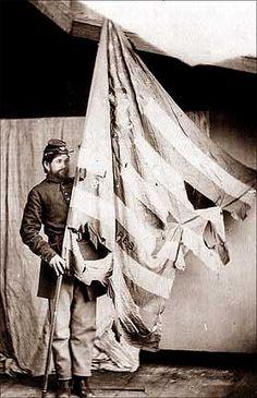 torn Union Flag, 1864.