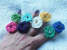 crochet rose, rose ring, craft idea, rosebud ring, flower