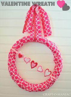 Valentine Wreath #valentines #valentine decor #wreath