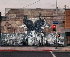 Finbarr Dac and Dtoar in Los Angeles, USA (via streetartcurator)