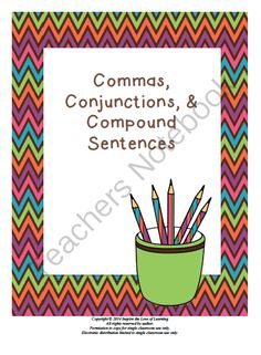 Commas, Conjunctions, and Compound Sentences from Inspire the Love of Learning on TeachersNotebook.com -  (18 pages)  - This product provides great practice using commas, conjunctions, and compound sentences!