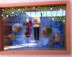 window display, anthro window, store windows, paint dot