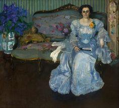 Retrato (Sra. Ema Castro de Figari)  Autor: Pedro Blanes Viale (1878-1926) Realizado: 1907  Técnica: Óleo  Soporte: Tela  Medidas: 170 x 187 cm
