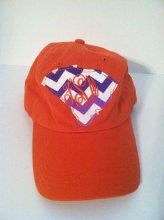 Clemson State Monogrammed Hat