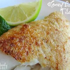 Honey Lime Tilapia Recipe (sub flour with almond meal or coconut flour)