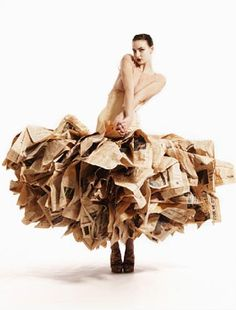 News paper dress!