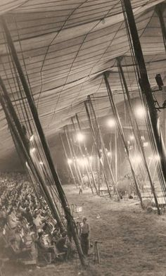 Wow. inside circus tent