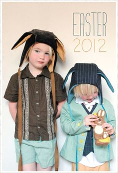 Easter bunny hoods adapted from Oliver & S Cozy Winter Hood pattern. Plus 8 tips for creating a great kids wardrobe.