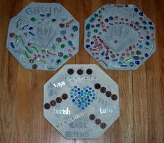 Garden stepping stones for kids to make
