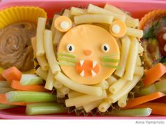Lion bento with mac and cheese || #LittlePassports #Cute #food for #kids