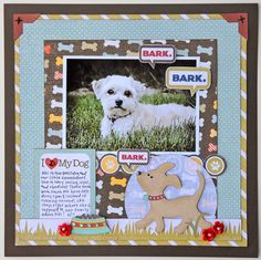 Jana Eubank created this darling layout for their favorite furry friend! #Cricut