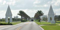 Entryway to Alys Beach on Hwy 30-A, Santa Rosa Beach, FL (Gulf Coast, between Rosemary Beach and Seaside)