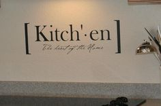 Kitchen definition vinyl lettering by LandeeOnEtsy on Etsy. $9.50, via Etsy.