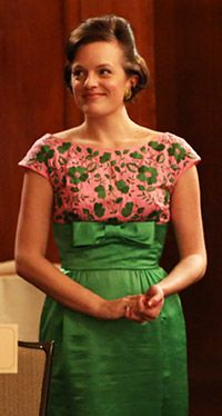 Mad Men's Peggy looking adorable.