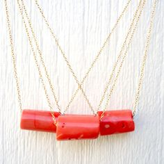 Coral is a great material for jewelry!