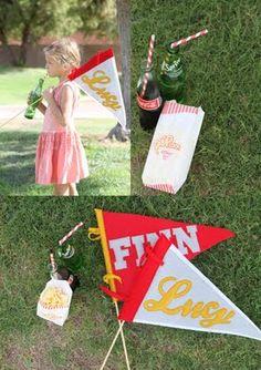 DIY pennants via @Melanie Bauer Blodgett