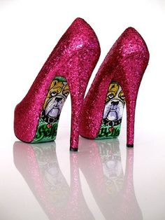 Cute Pink Sparkle High Heel Shoes