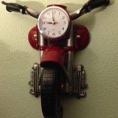 Wreck room design on pinterest motorcycles rat rods and motorcycle art - Motorcycle cuckoo clock ...