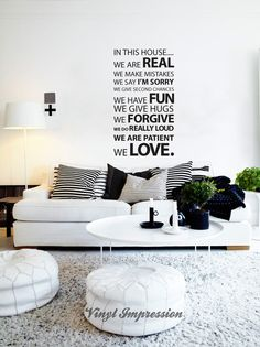 Quote Wall Stickers and Word Wall Stickers are great for family homes, put this beautiful vinyl wall art on your blank walls and inspire all your guests. Wall Murals are a great kids bedroom sticker, and nursery wall mural for encouraging words of wisdom in a wall decal. Brighten your home with fun and happy lyrics. | Vinyl Impression