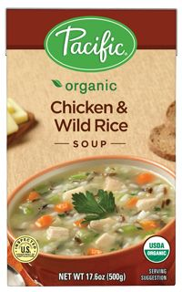 Pacific Foods Organic Chicken & Wild Rice Soup. Gluten Free