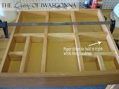 Custom Wood Drawer Organizers.  Blogger's version of Ana White's. Original idea: http://ana-white.com/2011/03/wood-drawer-organizers