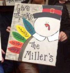 DIY thanksgiving canvas