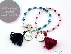 DIY Tassel and Stamped Charm Bracelets with SWAROVSKI ELEMENTS crystals and pearls!