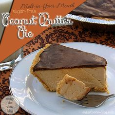 Melt-in-Your-Mouth {sugar-free} Peanut Butter Pie