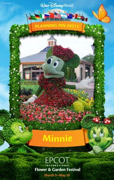 Walt Disney World Planning Pins: Minnie Mouse Topiary