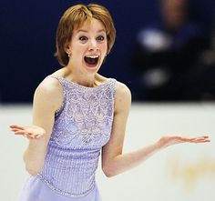 Sarah Hughes after finishing an amazing figure skating long program at the Olympics