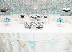 dessert tables, boy baby showers, baby boy shower, baby shower themes, baby blues