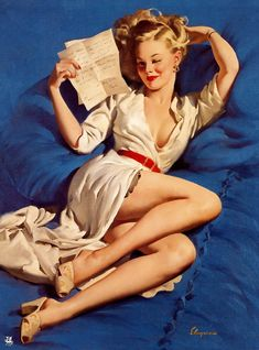 """He Thinks I'm Too Good to Be True"" - Gil Elvgren, 1947"