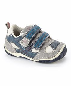 Another great find on #zulily! Navy Woody Leather Sneaker by Stride Rite #zulilyfinds