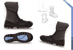 Concept and design of work footwear (Master's Class 2010 for Aboutblu)