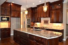Kitchen cabinets design ideas on pinterest traditional for Bristol chocolate kitchen cabinets