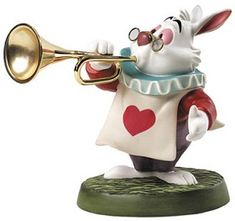 *WHITE RABBIT ~ WDCC Disney Classics_Alice In Wonderland White Rabbit Royal Fanfare