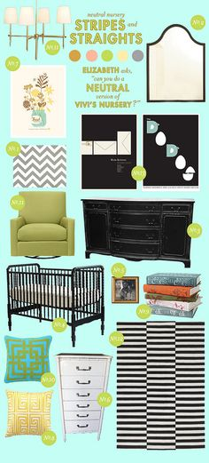 our nursery design board from joni at laybabylay