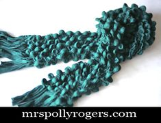 Click here to DIY this Bubble Scarf from felted wool knit.  GREAT GIFT.  Easy and fun.  Blog Instructions & Video from MrsPollyRogers.com