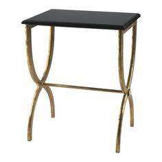 Antique Gold Side Table {love the style of the legs}